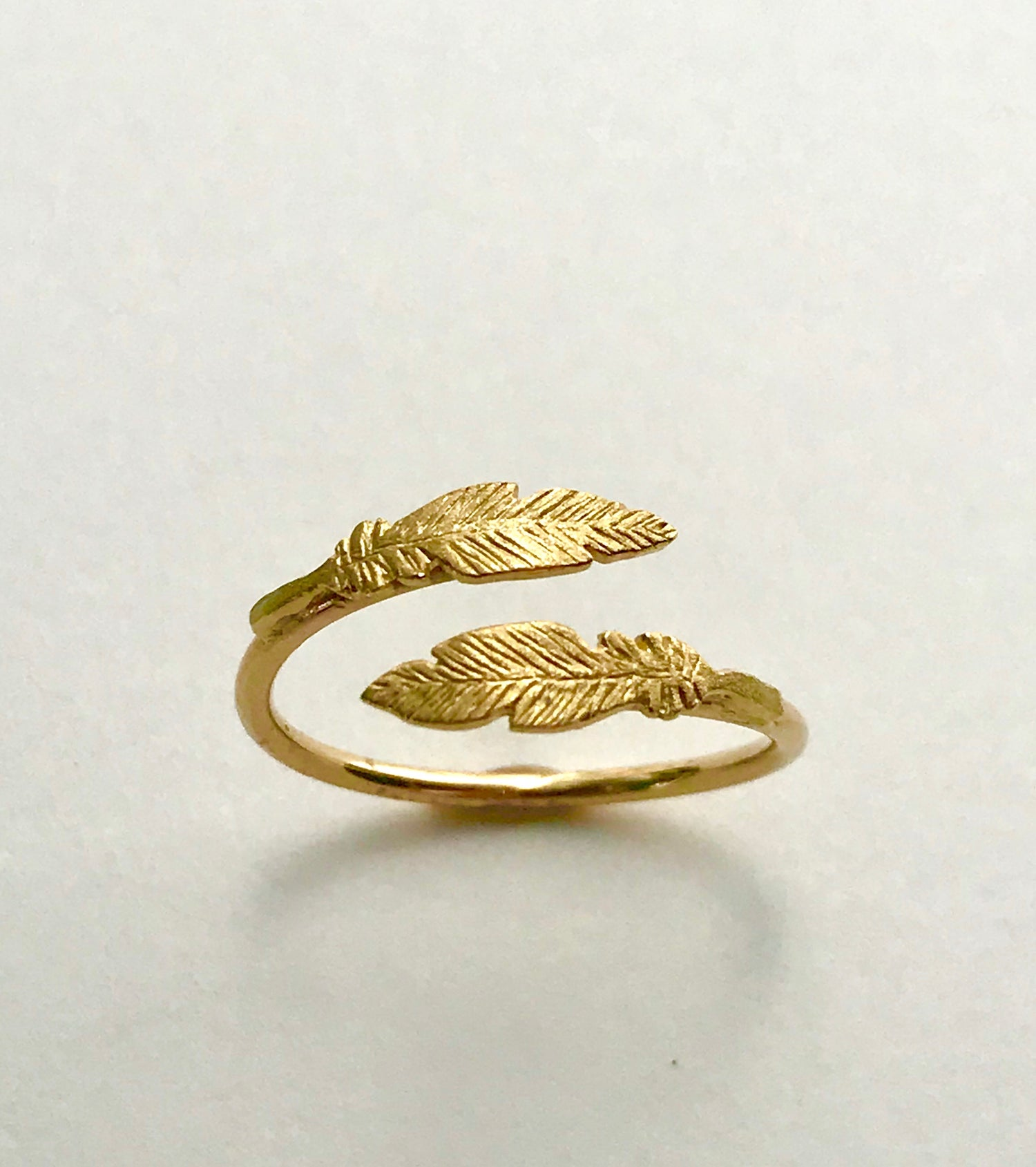 Image of Gold Feather Ring