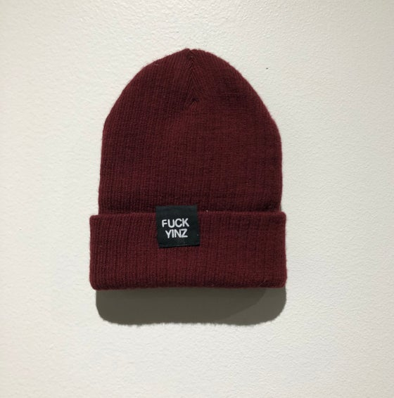 Image of BEANIE DARK RED