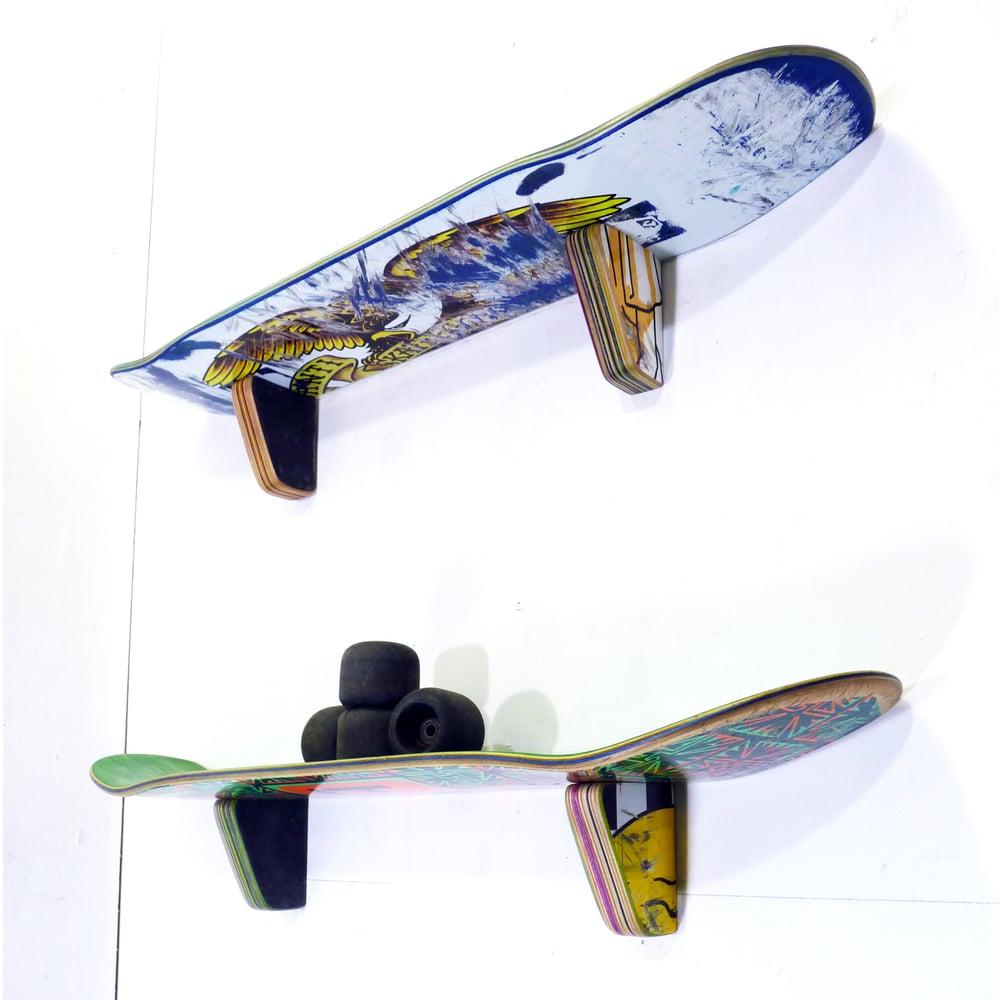 Image of WallRide SkateShelf - Skateboard Wall Shelf - Set of (2) Two