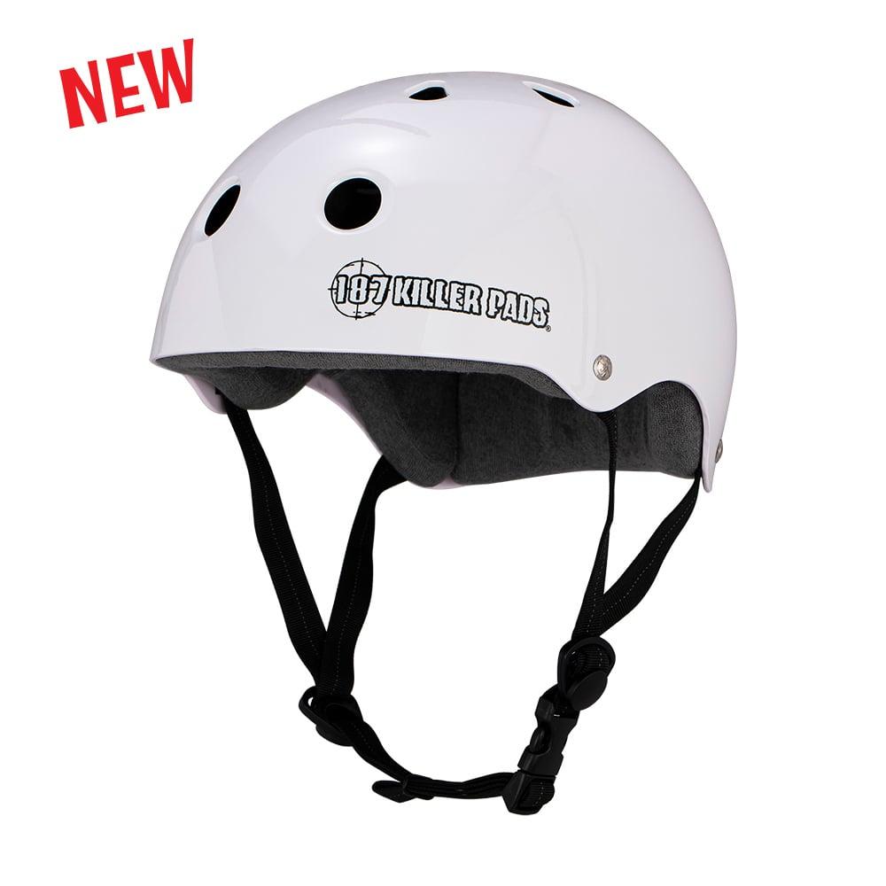 Image of Pro Skate Helmet w/ Sweatsaver Liner White Glossy