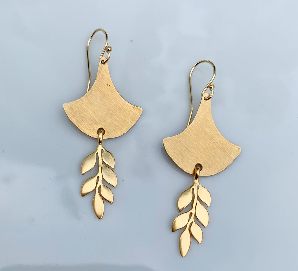 Image of Gold Fern Earrings