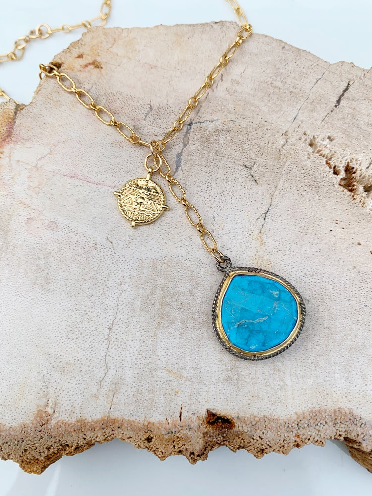 Image of Charm Turquoise Necklace