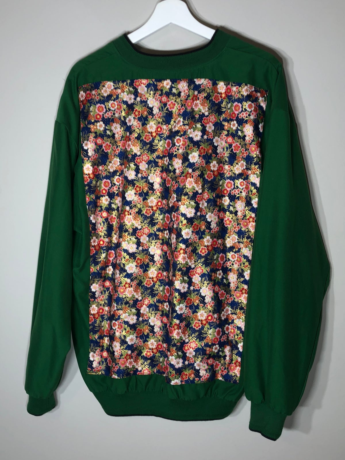 Image of Green Floral Pullover