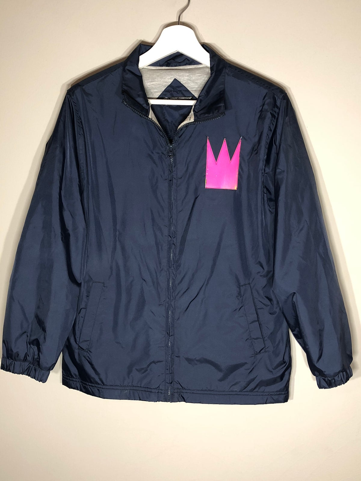 Image of Waterproof Navy Windbreaker