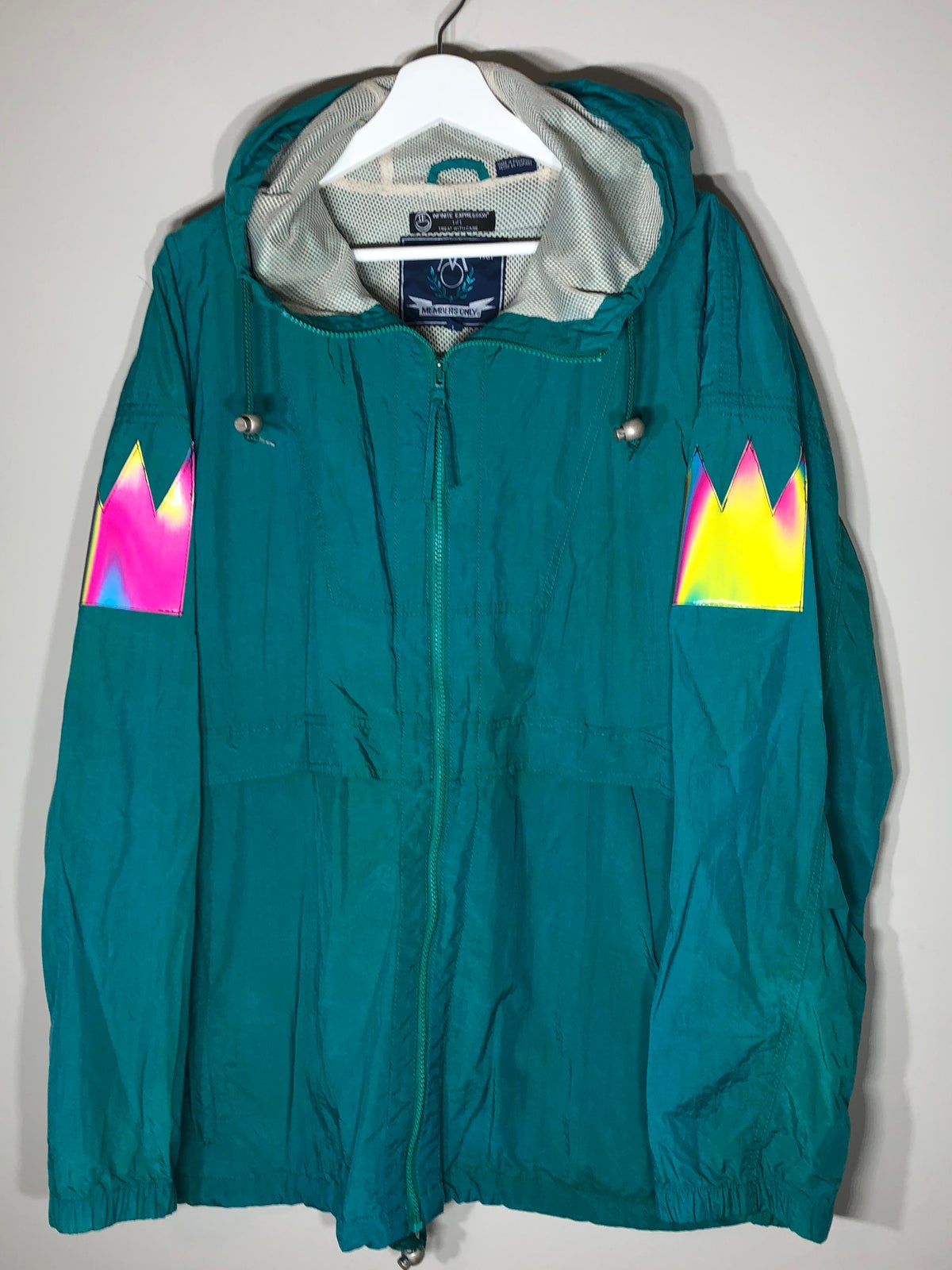 Image of Teal Temple Windbreaker
