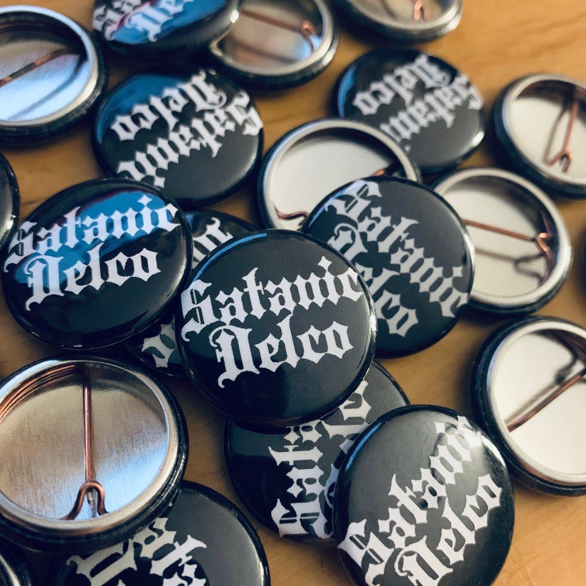 """Satanic Delco - 1"""" Button"""