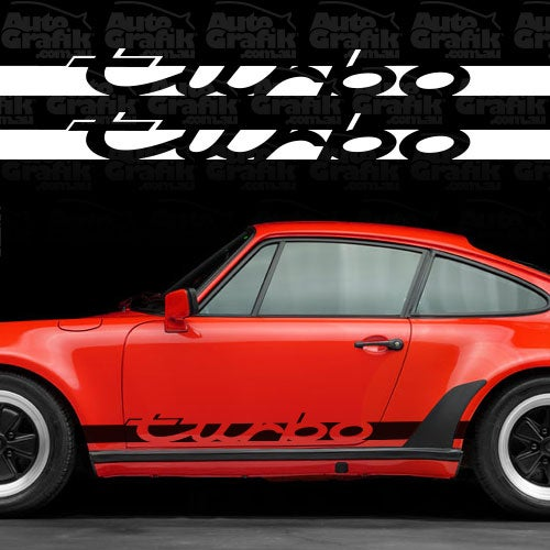 Image of TURBO WIDE BODY SIDE SCRIPT DECAL SET