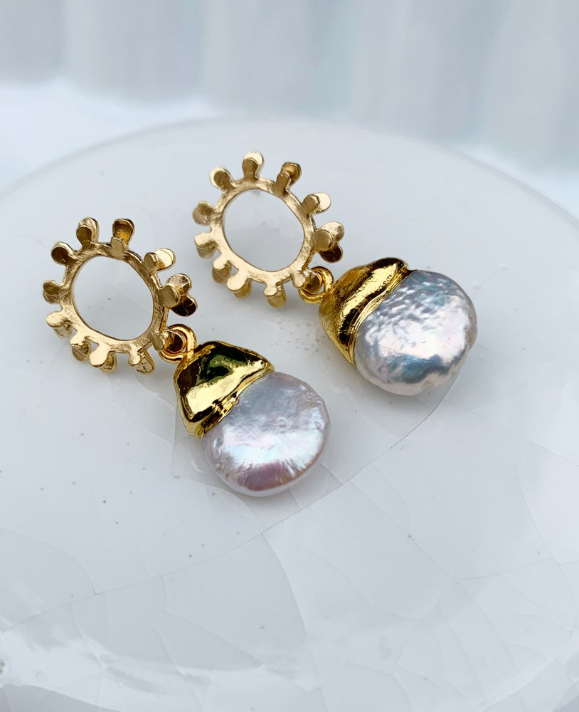 Image of Pearl Burst Earrings