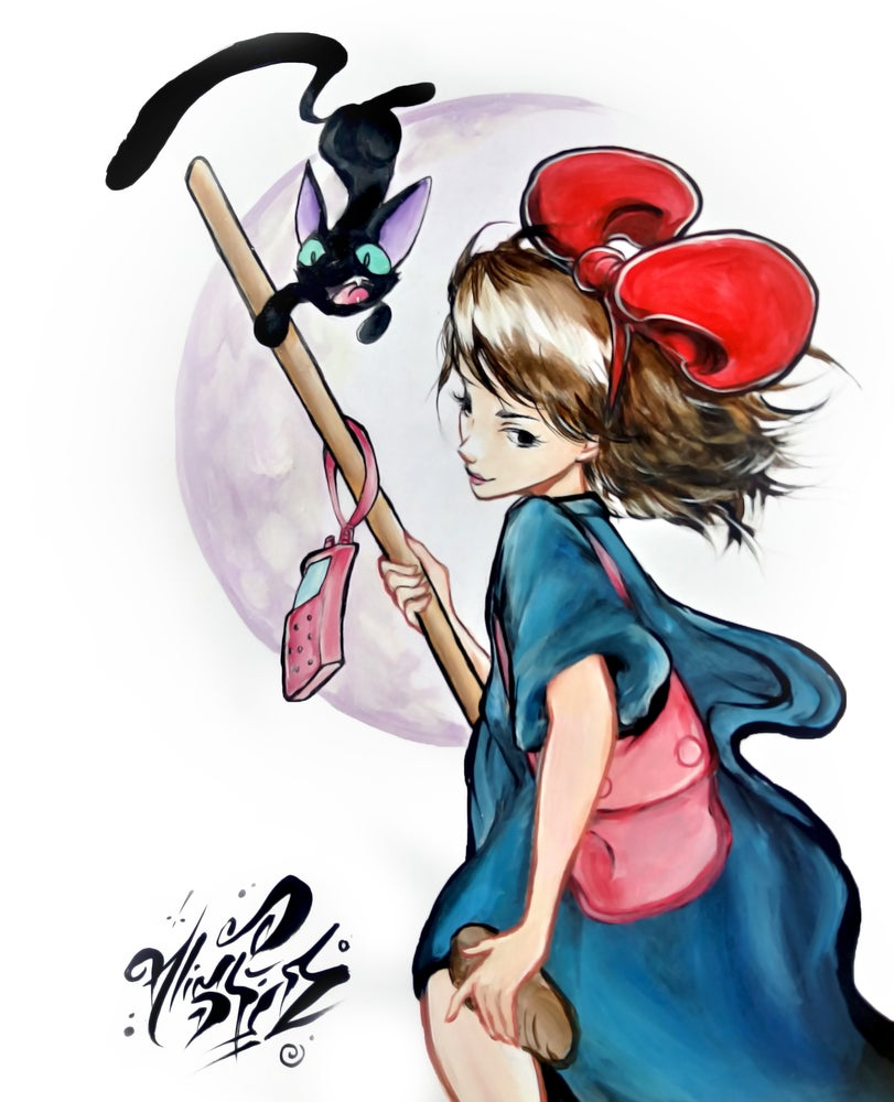 "Image of ""Kiki's Delivery Service"" Original Painting"
