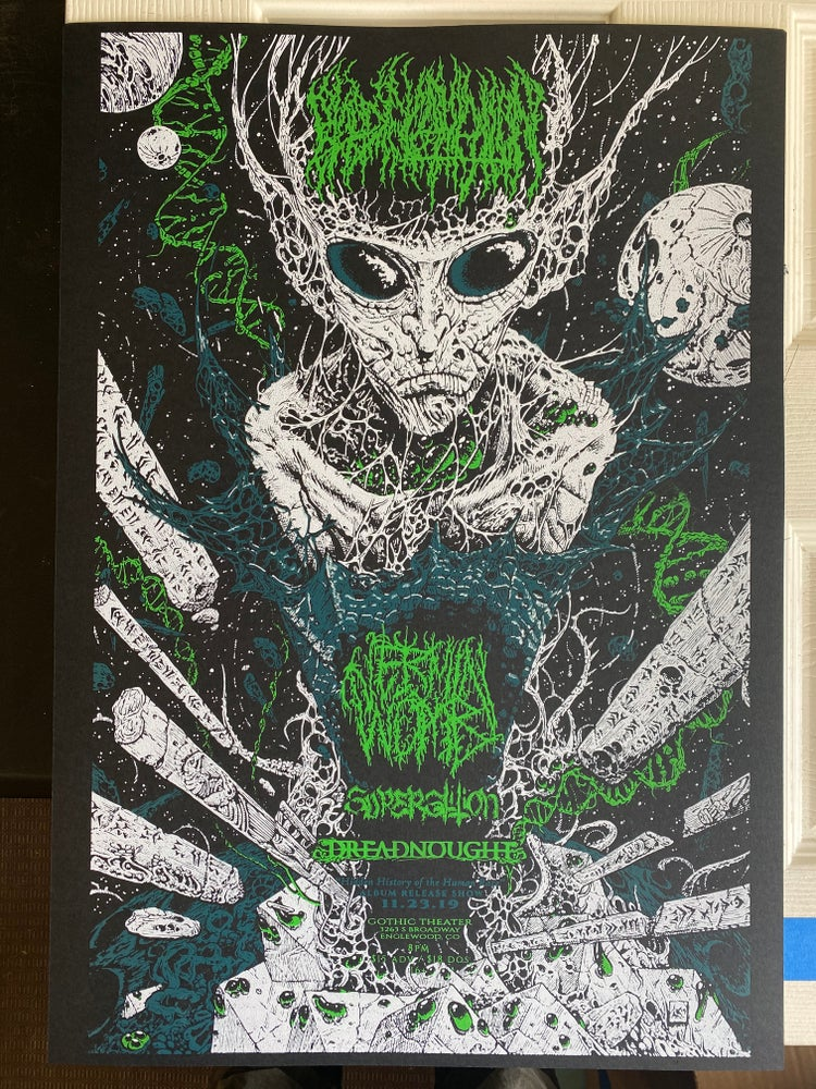 Image of SCREEN PRINTED HIDDEN HISTORY OF THE HUMAN RACE RELEASE SHOW POSTER