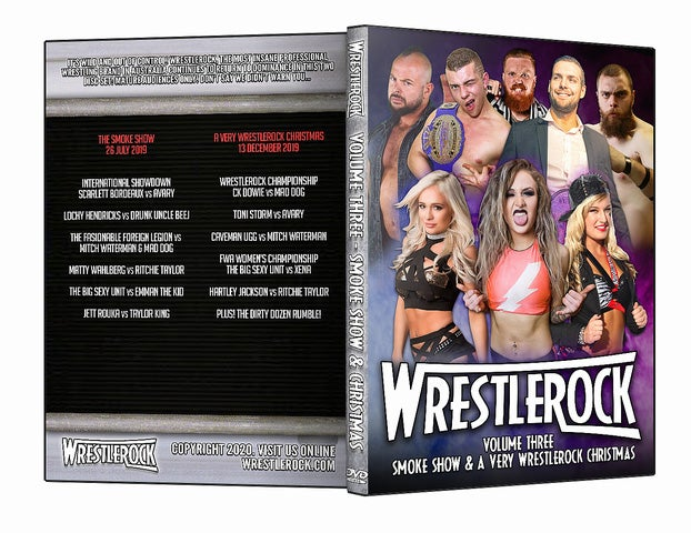 Image of WRESTLEROCK DVD Vol. 3 - Smoke Show & Very Wrestlerock Christmas