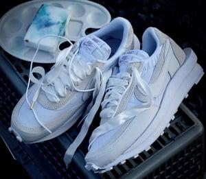 Image of Nike LD Waffle x Sacai white nylon