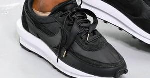 Image of Nike LD Waffle x Sacai Black Nylon