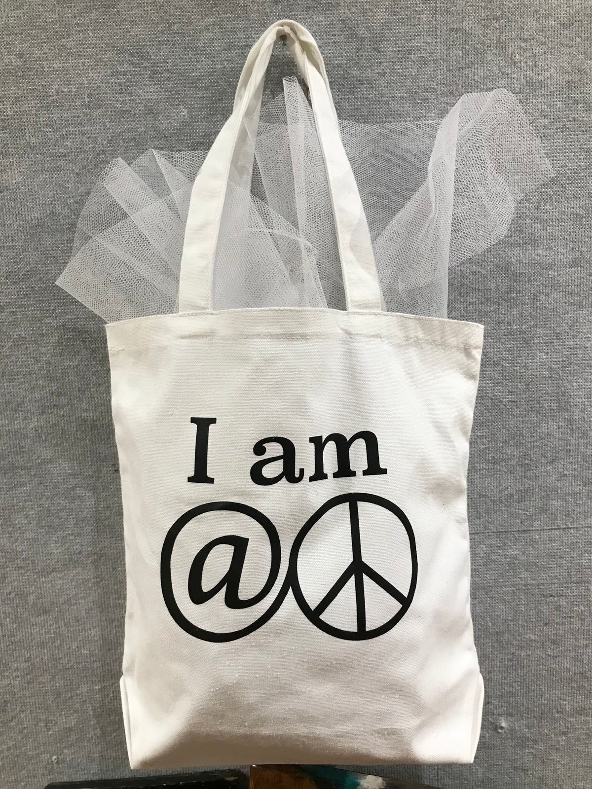 """I Am At Peace"" canvas tote"
