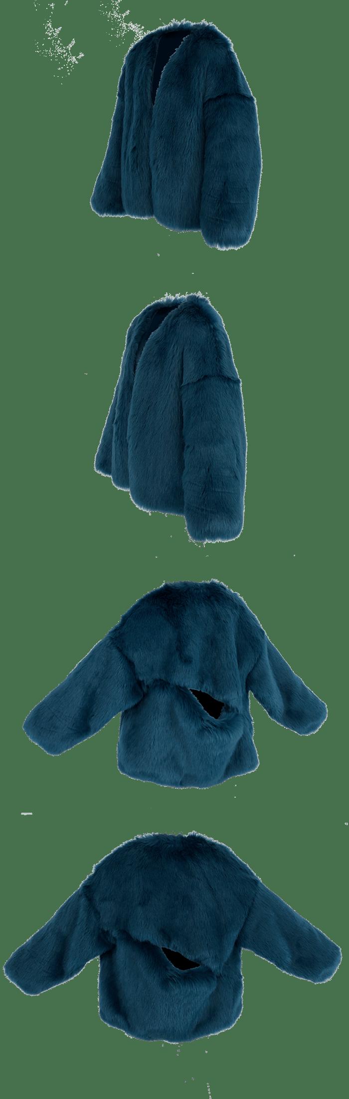 Image of BLUE BLAST FUR JACKET