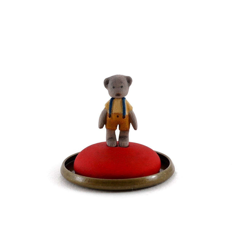 Image of Dorimu Miniature Teddy Bear in glass dome (#13)