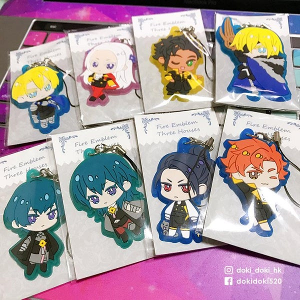 Image of FE3H Fire Emblem Three Houses Rubber Strap keychain charm