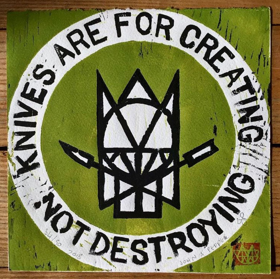 Image of knives are for creating not destroying