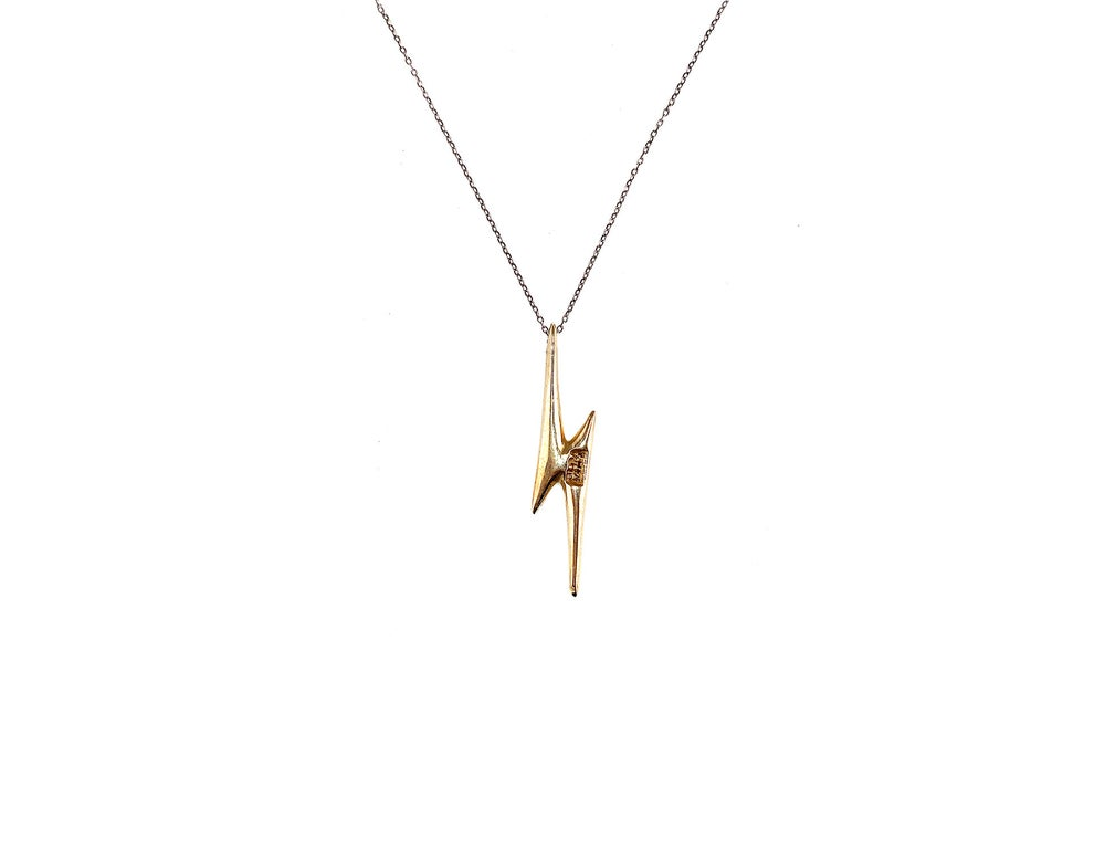 Image of Lightning Bolt Pendant Necklace