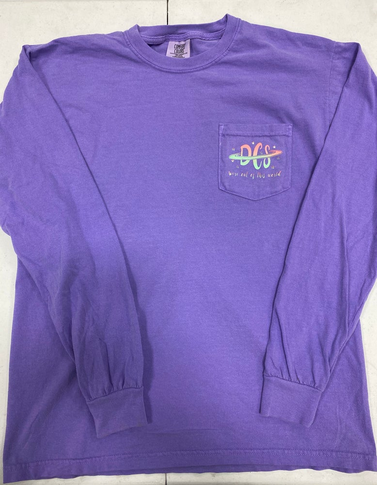 Image of TeamDCS Space Shirt WITH pocket - LONG Sleeve