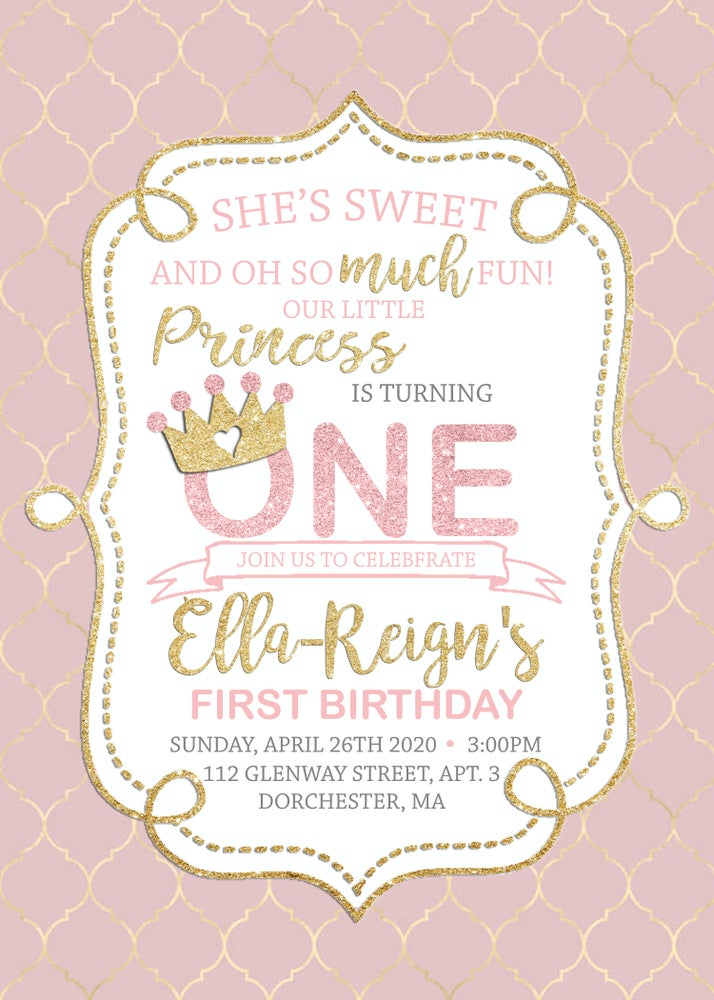 Image of First Birthday Invitation & Baby Shower Invitations & Inserts