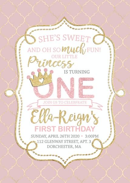 Image of First Birthday Invitation & Baby Shower Invitations & Inserts