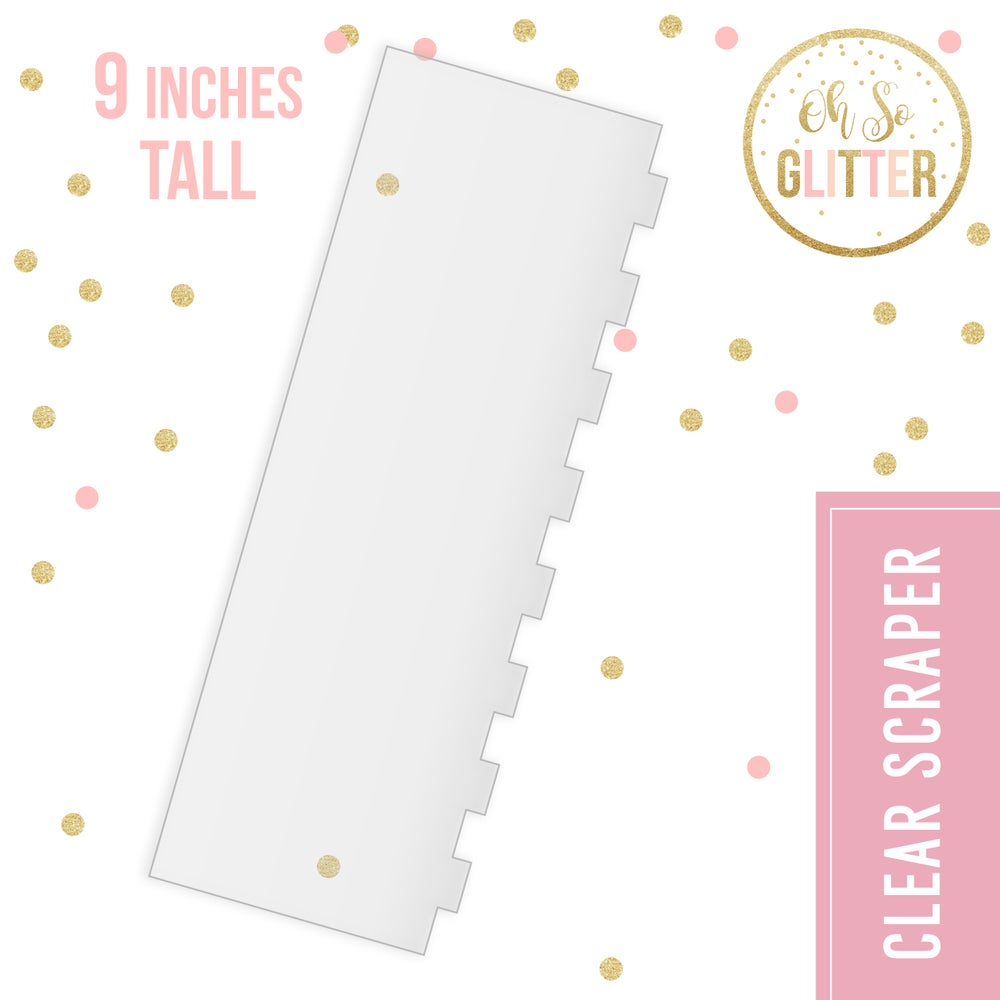 Image of Cake Scraper and smoother - Medium STRIPE