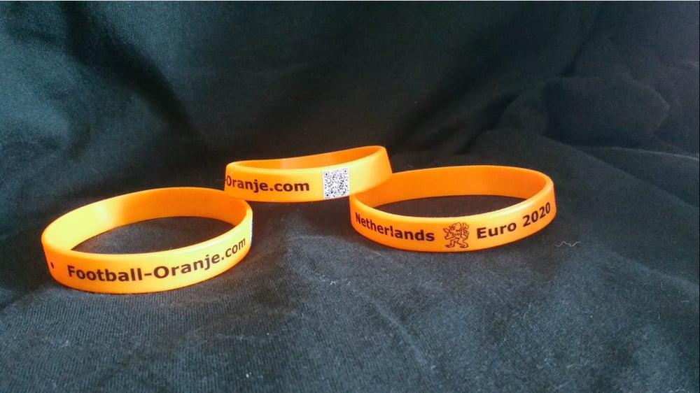 Image of Football-Oranje 'Netherlands Euro 2020' Wristband