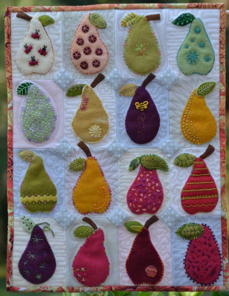 "Image of Pear Study Pattern 14""x18"""