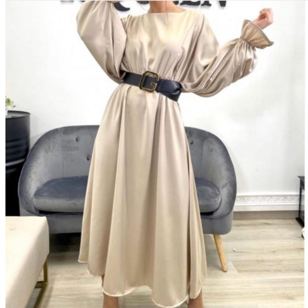 Image of Satin Batwing Maxi Dress