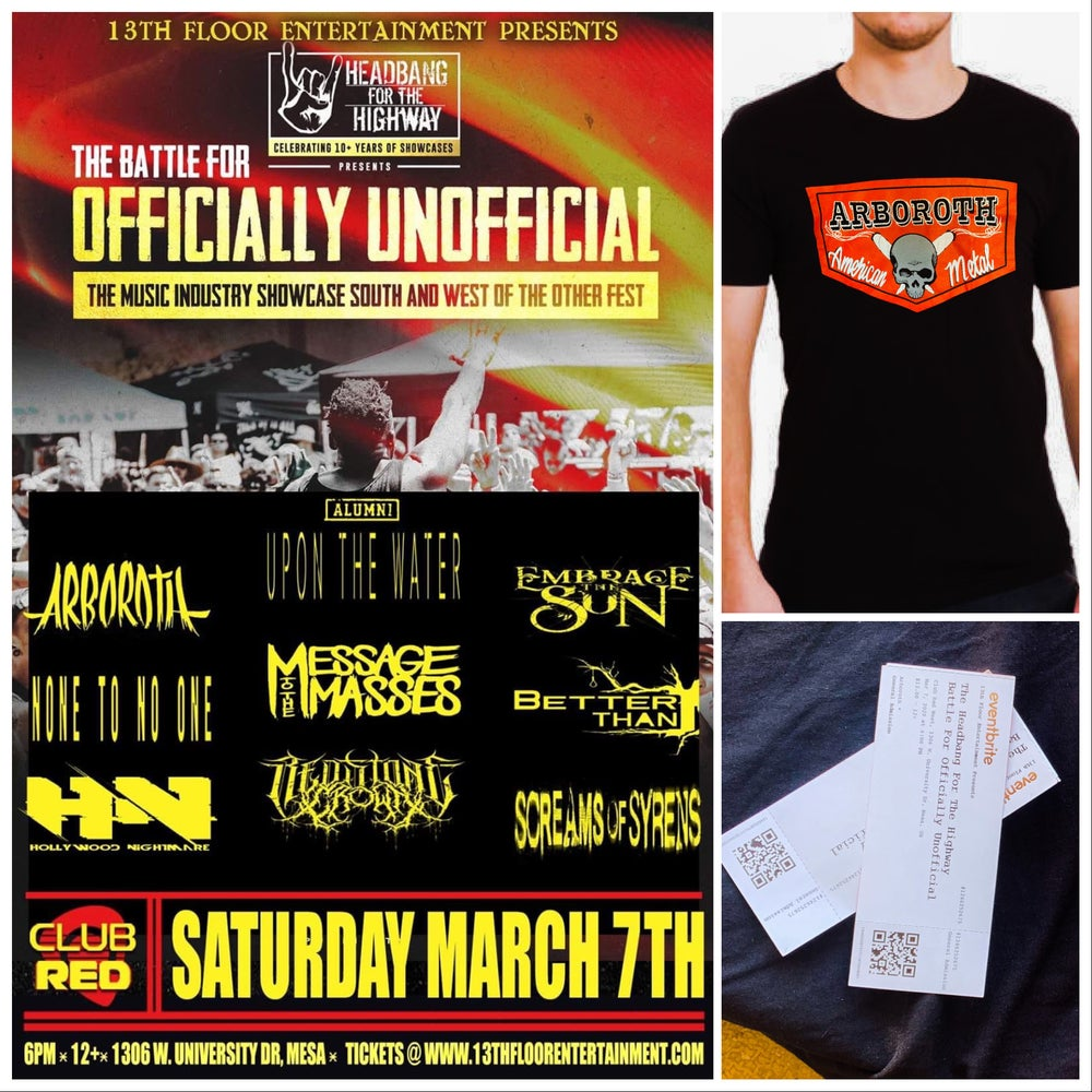 Image of 2 Tickets & T-SHIRT Bundle MAR 7th 2020