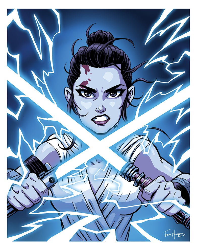 Image of REY - FINAL BATTLE Print