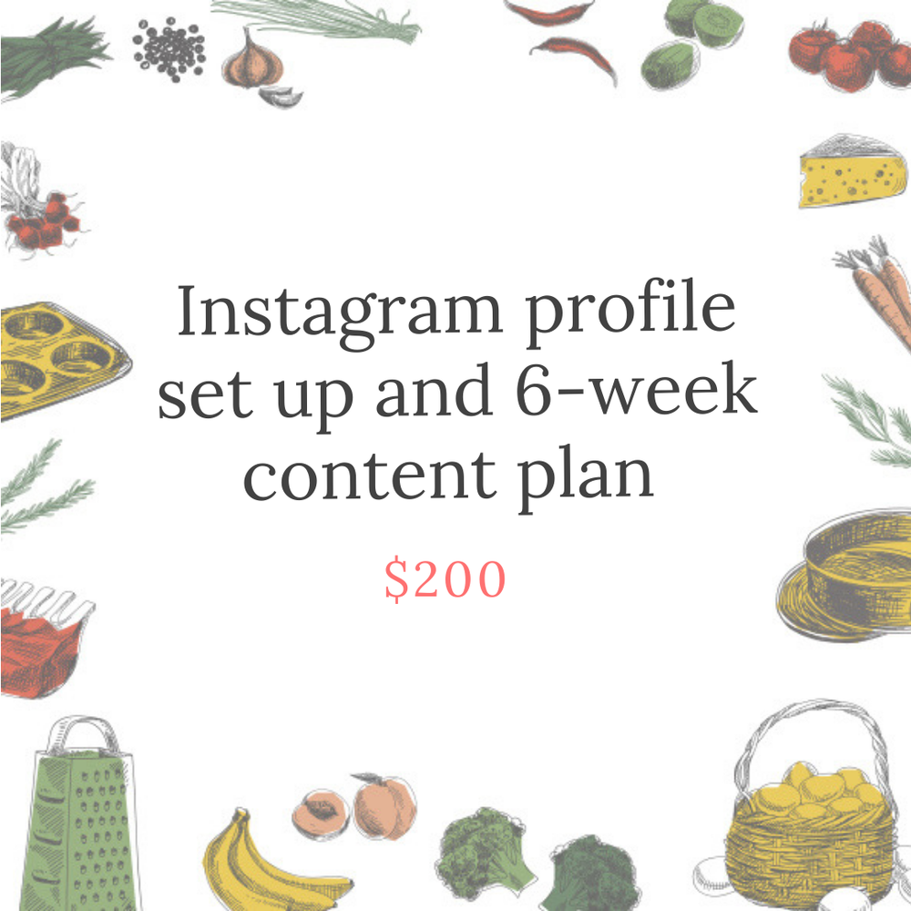 Image of Instagram profile set up and content plan