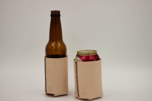 Image of Leather Koozie - Natural