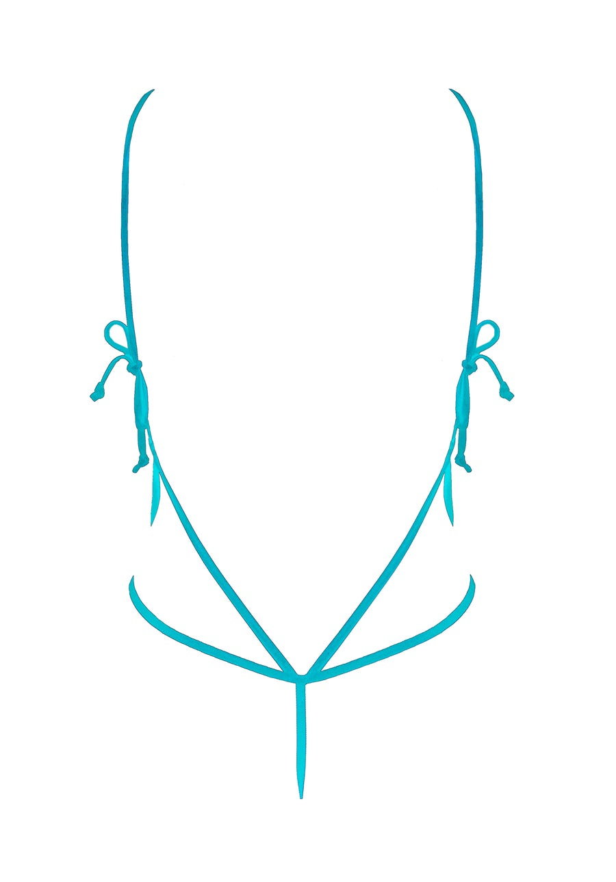 Image of Laced Up Body - Turquoise