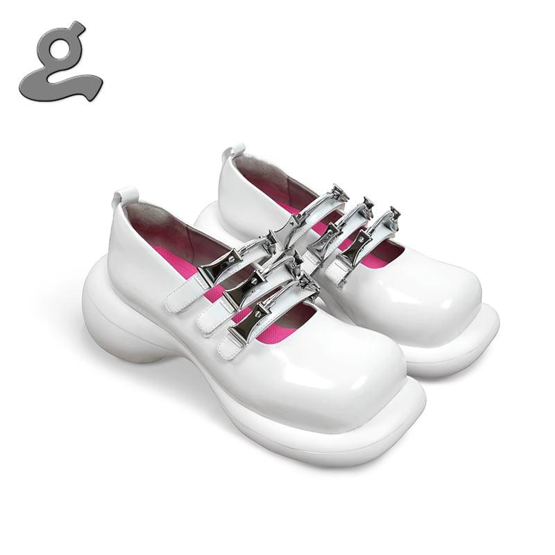 Image of GRAPE&PEACE BIRD 20SS platform shoes white