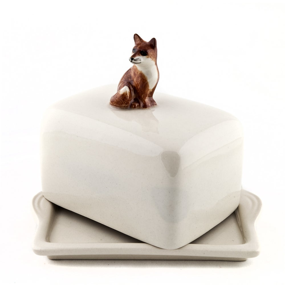 Image of FOX BUTTER DISH