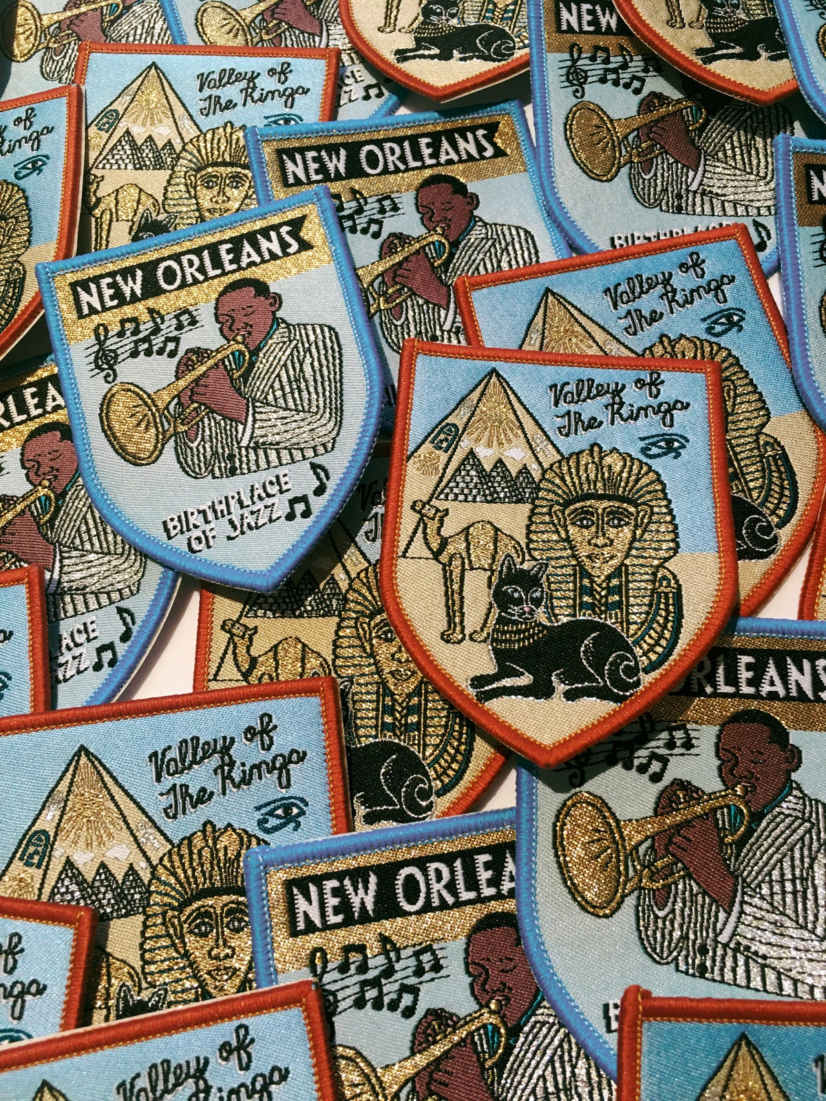 New Orleans Iron on Travel Patch