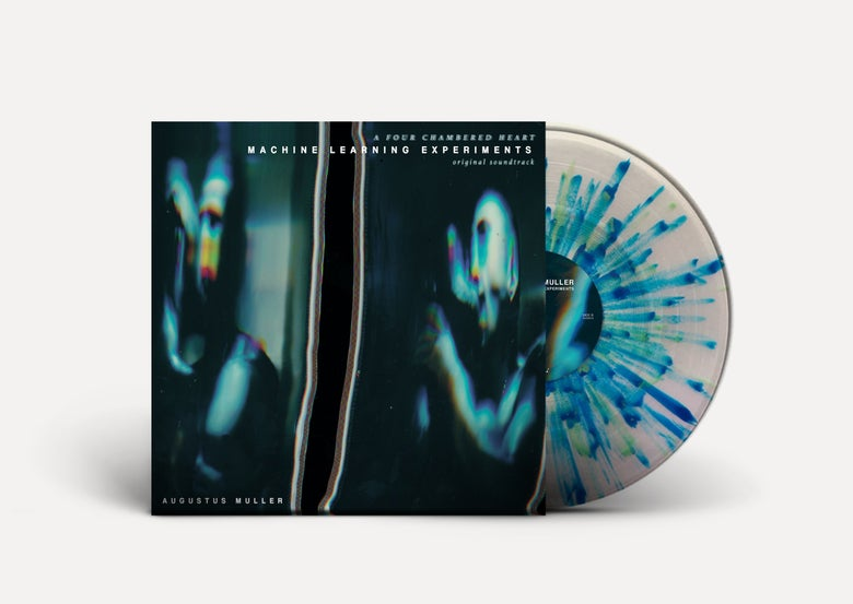 Image of AUGUSTUS MULLER 'Machine Learning Experiments' LP *CLEAR w/ BLUE & GREEN SPLATTER VINYL* PRE-ORDER