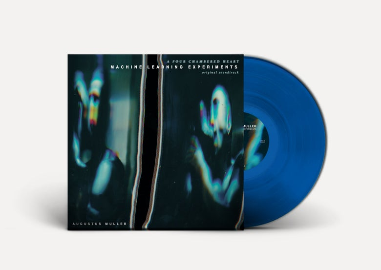 Image of AUGUSTUS MULLER 'Machine Learning Experiments' LP *CLEAR BLUE VINYL* PRE-ORDER