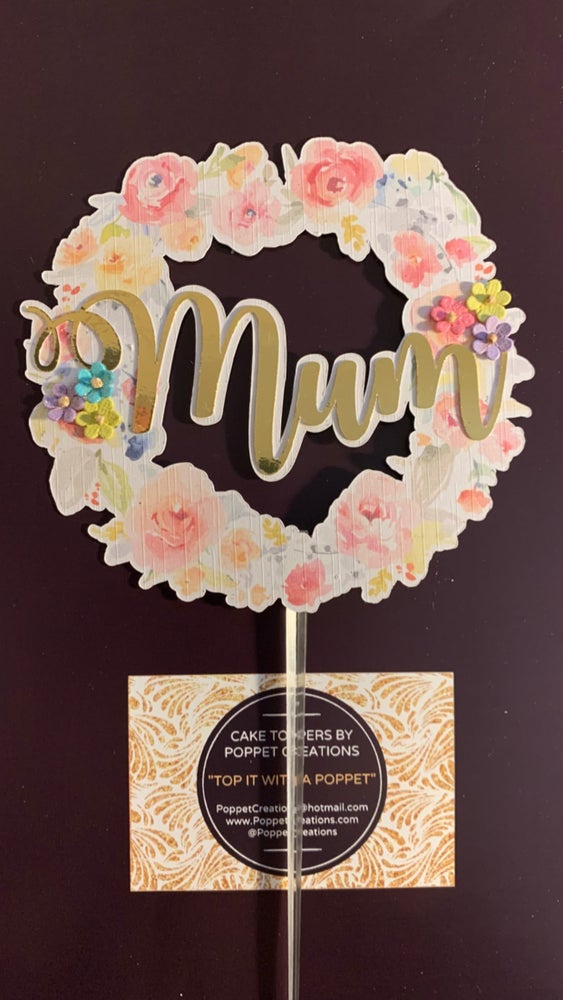 Image of Floral Mum Topper