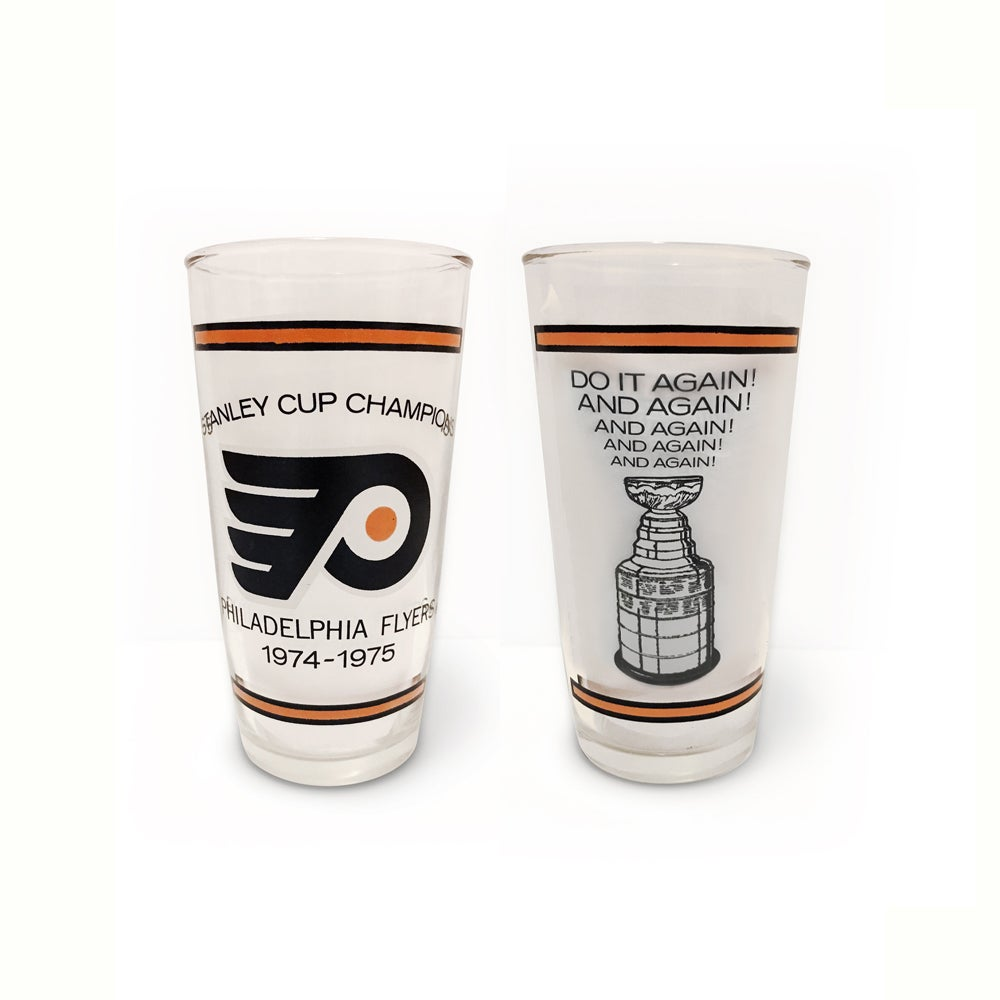 Image of Philadelphia Flyers - Vintage 1974-1975 Stanley Cup Champions Cup Glass