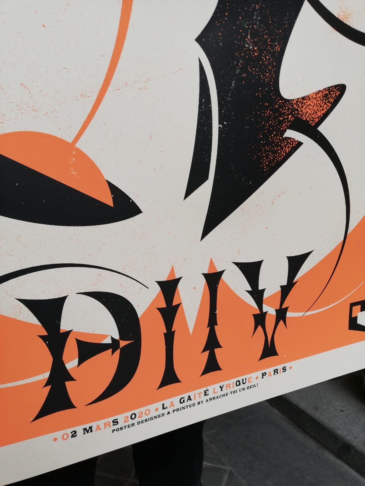 DIIV (gigposter Paris 2020)