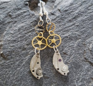 Image of Clockwork Earrings, handmade