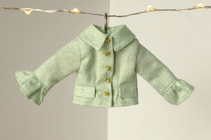 Image of Mint and gold jacket for Poppy Parker or Barbie (see description)