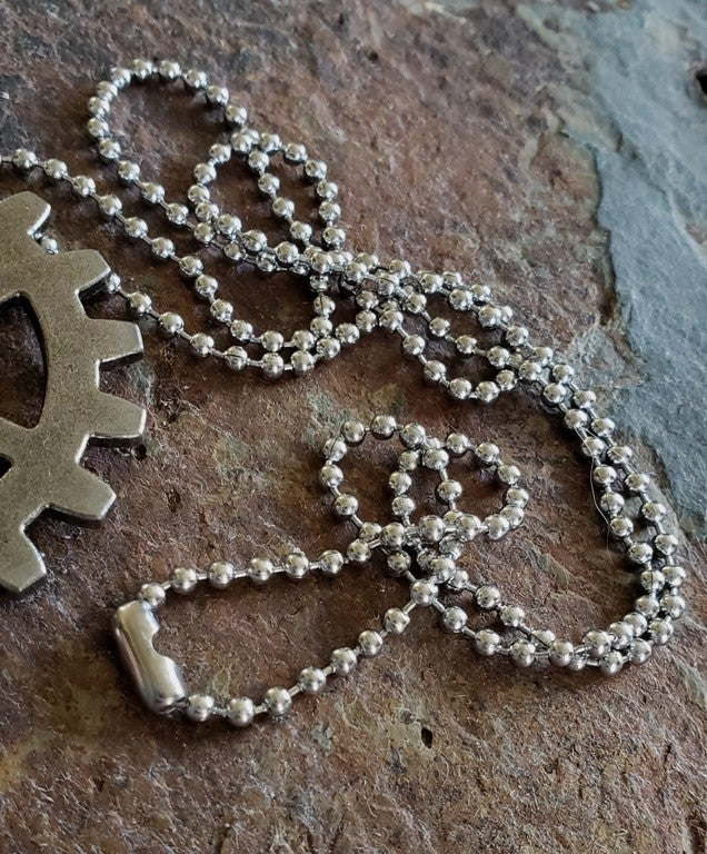 Image of Moving Clockhand Clockwork pendant necklace, handmade