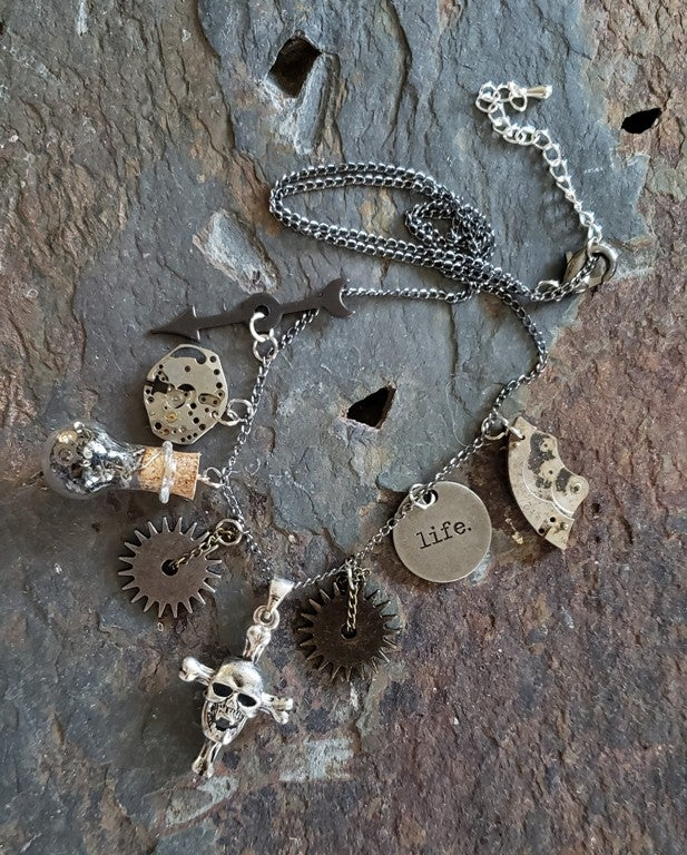 Image of Time of Your Life charm necklace, handmade