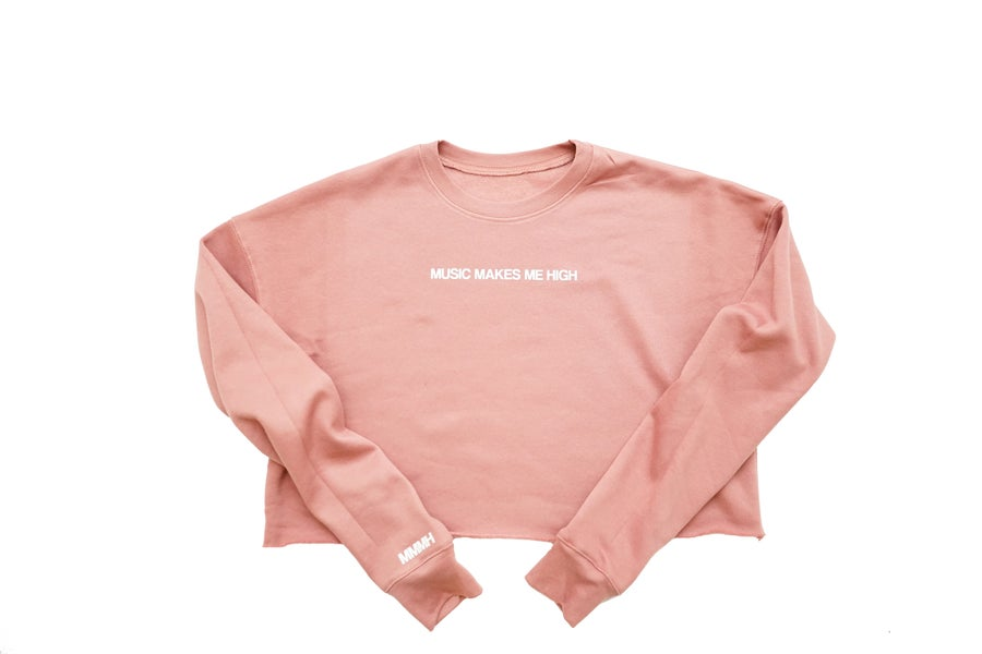 Image of MMMH Cropped Fleece Crewneck (Mauve)