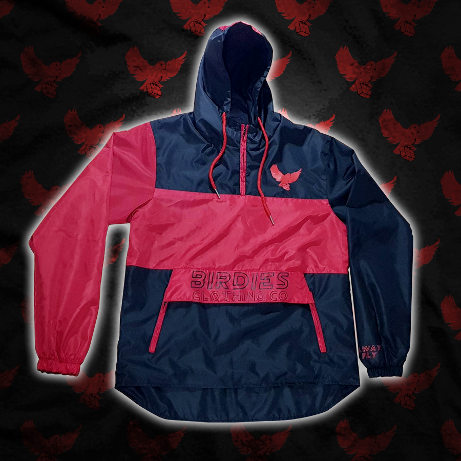 Image of Black/Red Birdies Windbreaker