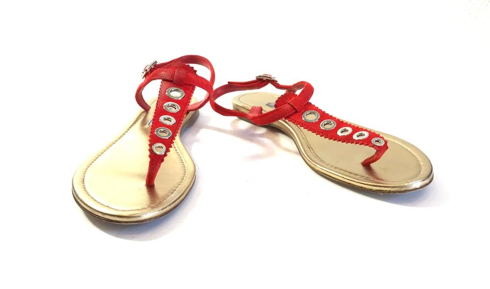 Image of Prada Size 37.5 Sandals 6-1034